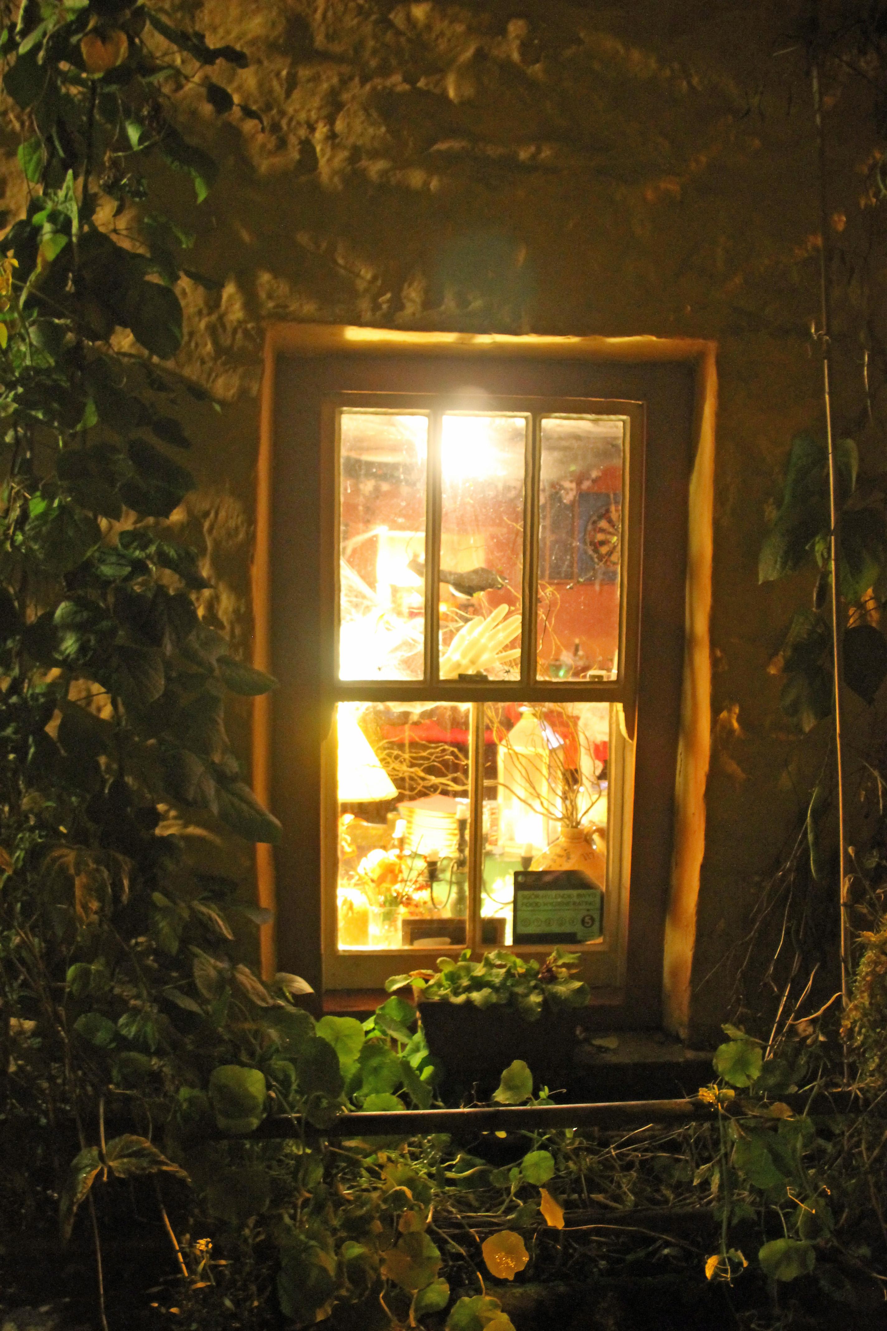 IMG_3501 Through the Cwmdu Inn window on Halloween