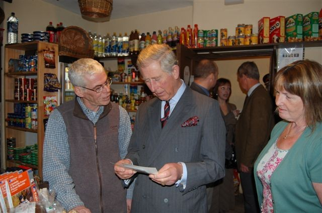 Prince Charles visited Cwmdu in 2009