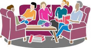 Clipart image of book club meeting