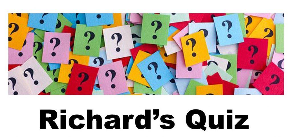 Richards Quiz Week 38