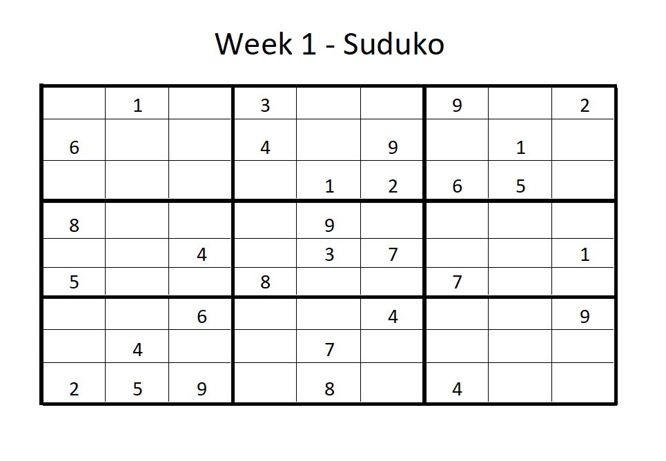 Week 1 Suduko Solution