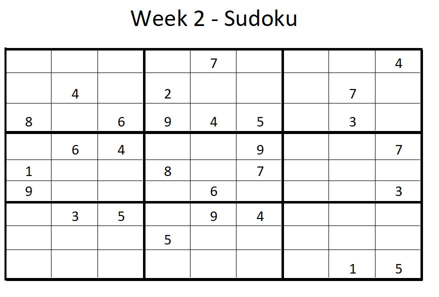 Week 2 Sudoku Solution