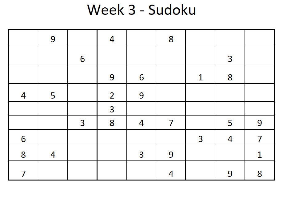 Week 3 Sudoku Solution