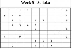 Week 5 Sudoku puzzle