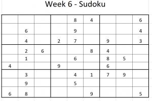 Week 6 Sudoku puzzle