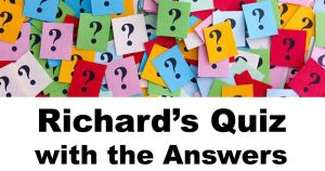 Richard's Quiz Week 14 With Answers