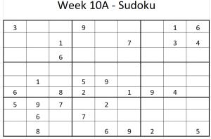 Week 10A Sudoku
