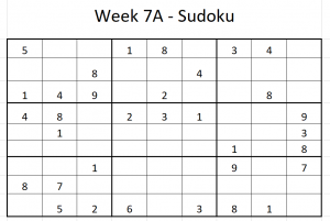 Week 7A Sudoku
