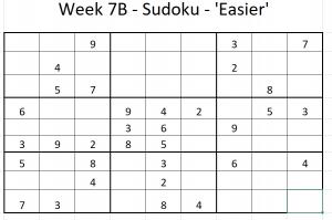 Week 7B Sudoku - 'Easier'