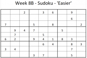 Week 8B Sudoku - Easier