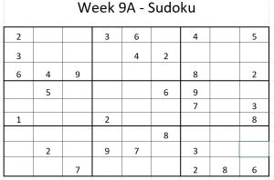 Week 9A Sudoku
