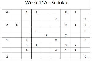 Week 11A Sudoku