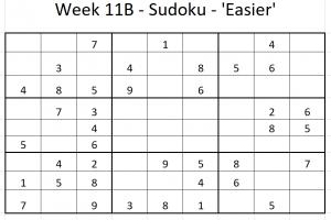 Week 11B Sudoku