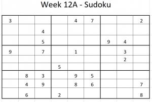 Week 12A Sudoku