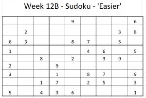 Week 12B Sudoku