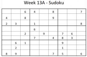 Week 13A Sudoku