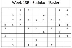 Week 13B Sudoku