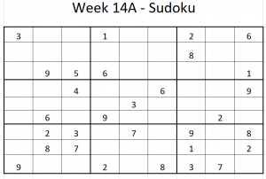 Week 14A Sudoku