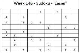 Week 14B Sudoku