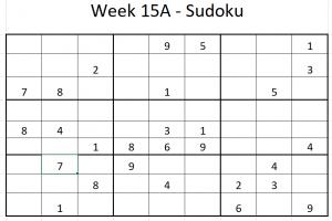 Week 15A Sudoku