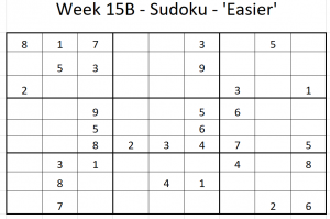 Week 15B Sudoku