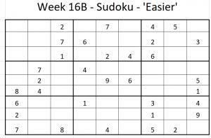 Week 16B Sudoku