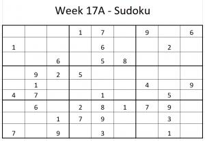 Week 17A Sudoku