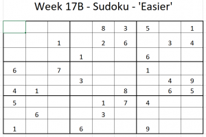 Week 17B Sudoku