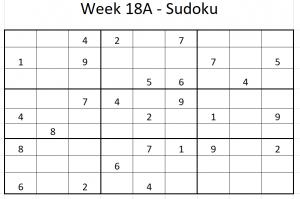 Week 18A Sudoku