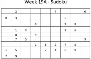 Week 19A Sudoku puzzle