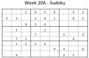 Week 20A Sudoku