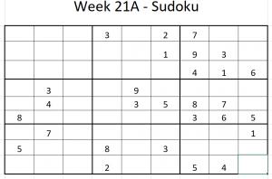 Week 21A Sudoku