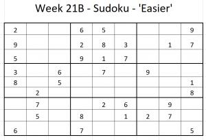 Week 21B Sudoku