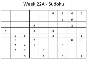 Week 22A Sudoku