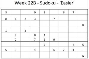 Week 22B Sudoku