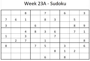 Week 23A Sudoku