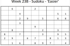 Week 23B Sudoku