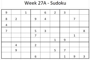 Week 27A Sudoku