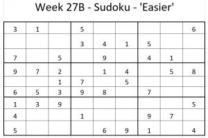 Week 27B Sudoku
