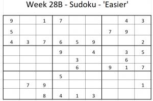 Week 28B Sudoku