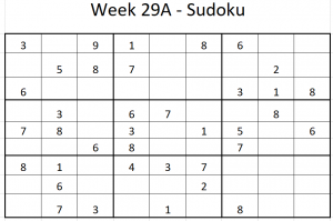 Week 29A Sudoku
