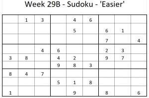 Week 29B Sudoku