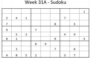 Week 31A Sudoku