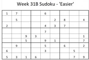 Week 31B Sudoku