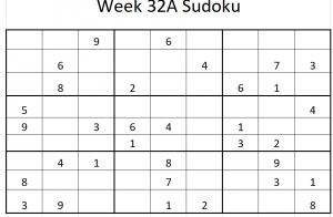Week 32A Sudoku