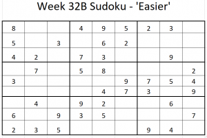 Week 32B Sudoku