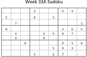 Week 33A Sudoku