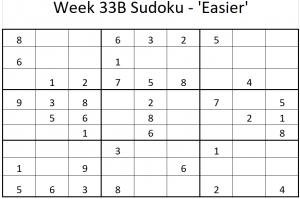 Week 33B Sudoku