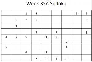 Week 35A Sudoku