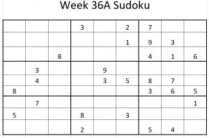 Week 36A Sudoku